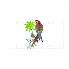 Parrot Tropical Cruise Aluminum License Plate