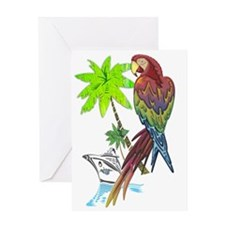 Parrot Tropical Cruise Greeting Card