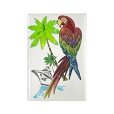 Parrot Tropical Cruise Rectangle Magnet