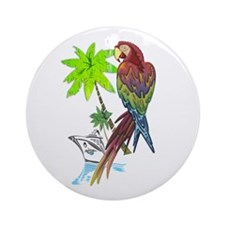 Parrot Tropical Cruise Ornament (Round)