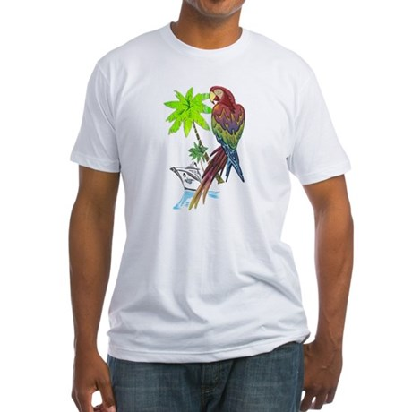 Parrot Tropical Cruise Fitted T-Shirt