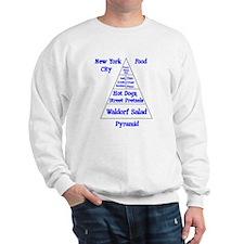 New York City Food Pyramid Sweatshirt