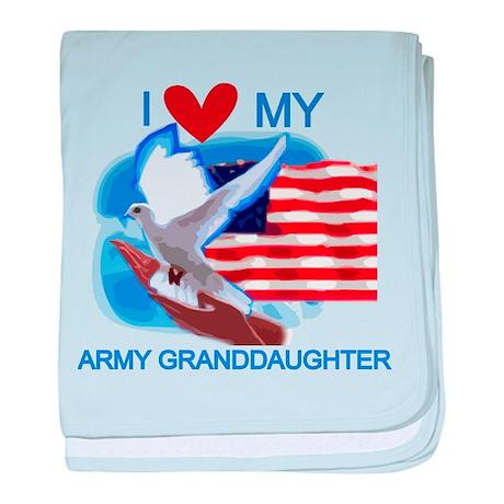 Love My Army Granddaughter baby blanket