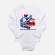 Love My Army Granddaughter Long Sleeve Infant Body