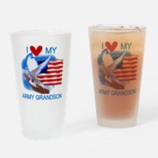 Love My Army Grandson Pint Glass