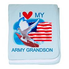 Love My Army Grandson baby blanket
