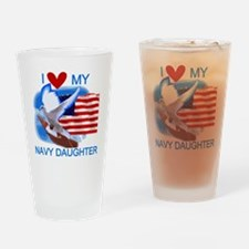 Love My Navy Daughter Pint Glass