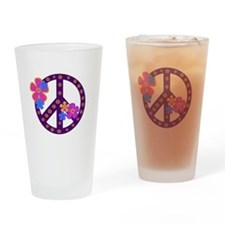 Peace Sign Pint Glass