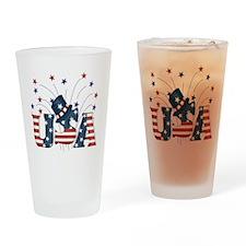 USA Fireworks Pint Glass