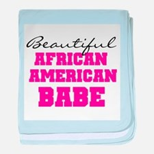 African American Babe baby blanket