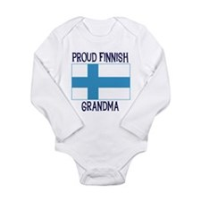 Finnish Grandma Long Sleeve Infant Bodysuit