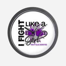 Fight Like A Girl Fibromyalgia Wall Clock