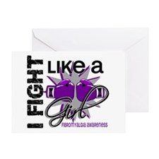 Fight Like A Girl Fibromyalgia Greeting Card