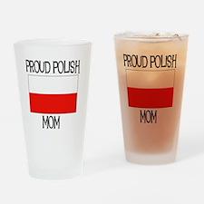Proud Polish Mom Pint Glass