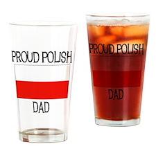 Proud Polish Dad Pint Glass