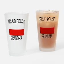 Proud Polish Grandma Pint Glass
