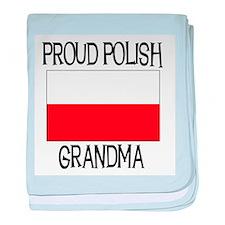 Proud Polish Grandma baby blanket