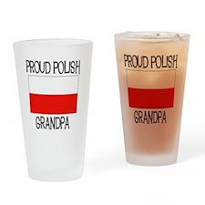 Proud Polish Grandpa Pint Glass