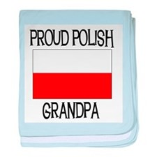 Proud Polish Grandpa baby blanket