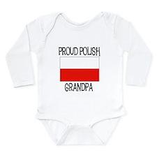 Proud Polish Grandpa Long Sleeve Infant Bodysuit