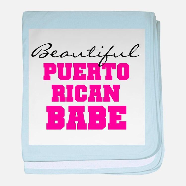 Puerto Rican Babe baby blanket