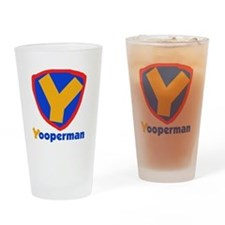 YooperMan Pint Glass