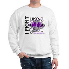 Fight Like A Girl Fibromyalgia Sweatshirt