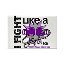 Licensed Fight Like A Girl 13.5 F Rectangle Magnet