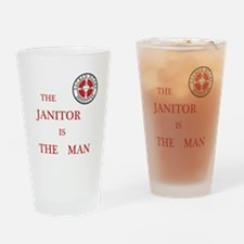 The Janitor is the Man Pint Glass