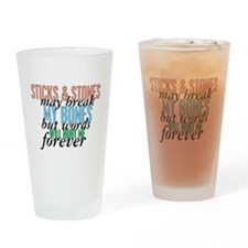 Sticks and Stones Pint Glass