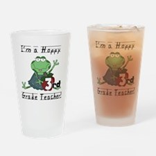 Hoppy 3rd Grade Teacher Drinking Glass
