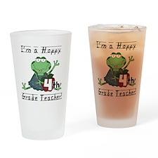 Hoppy 4th Grade Teacher Pint Glass