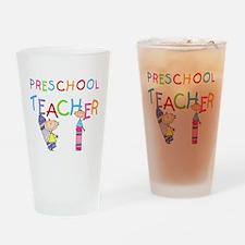 Crayons Preschool Teacher Pint Glass