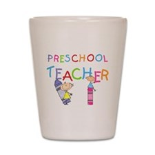Crayons Preschool Teacher Shot Glass