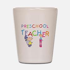 Crayons Preschool Teacher Shot Glass