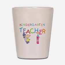 Crayons Kindergarten Teacher Shot Glass