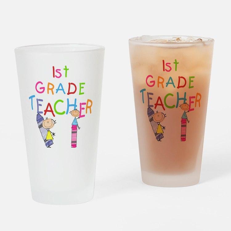 1st Grade Teacher Pint Glass