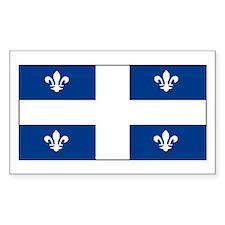 Quebec Quebecer Blank Flag Rectangle Decal