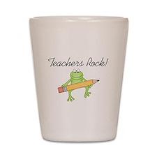 Frog Teachers Rock Shot Glass