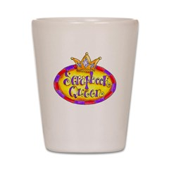 Scrapbook Queen Crown Shot Glass