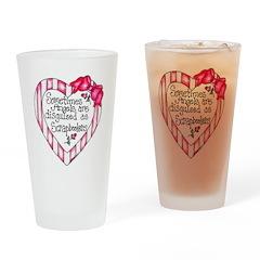 Angel Scrapbooker Drinking Glass