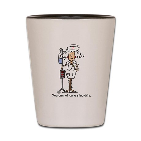Funny Nurse Four Shot Glass