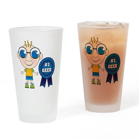Number One Geek Boy Pint Glass