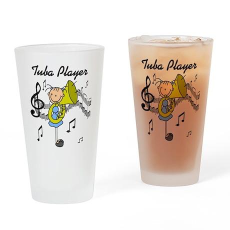 Tuba Player Pint Glass