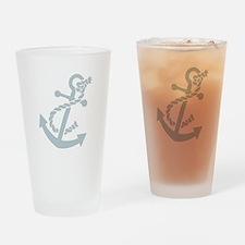 Nautical Anchor Pint Glass