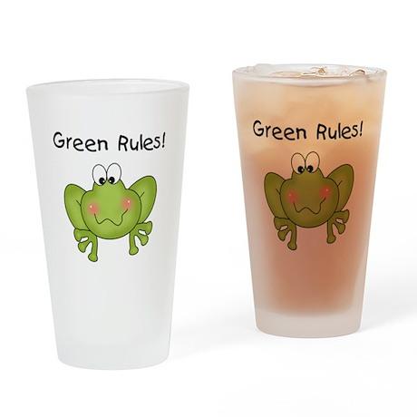 Green Rules Pint Glass