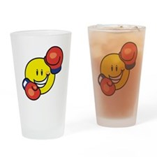 Smile Face Boxing Pint Glass