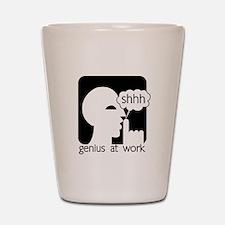 Shhh Genius at Work Shot Glass