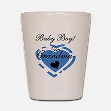 Baby Boy New Grandma Shot Glass