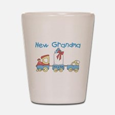 Train New Grandma Shot Glass